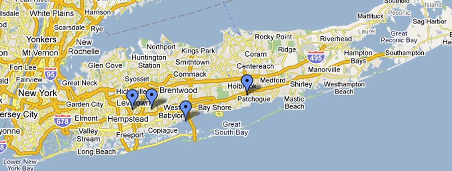 Queens Long Island Map
